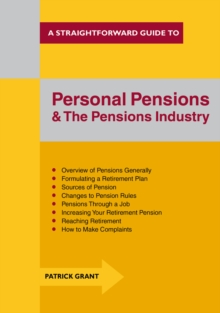 Personal Pensions and the Pensions Industry, Paperback Book