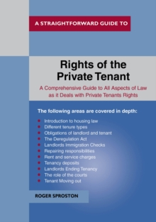 The Rights of the Private Tenant, Paperback Book