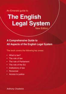 A Guide to the English Legal System, Paperback Book