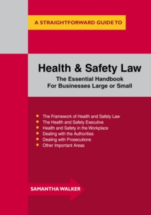 Health and Safety Law, Paperback Book