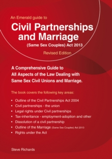Civil Partnerships and (Same Sex) Marriage, Paperback Book