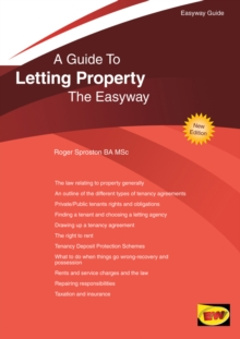 A Guide To Letting Property The Easyway, Paperback Book