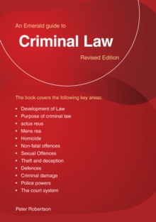 Criminal Law : An Emerald Guide, Paperback / softback Book