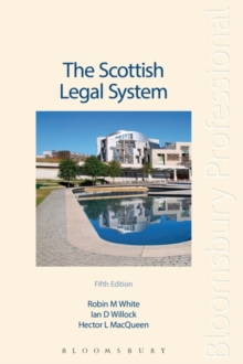 The Scottish Legal System, Paperback Book