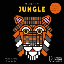 Sticker Art Jungle, Paperback Book