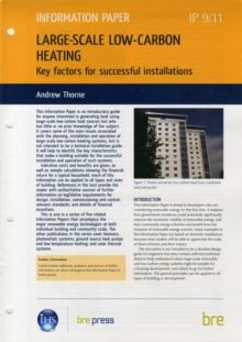 Large-scale Low-carbon Heating : Key Factors for Successful Installations, Pamphlet Book