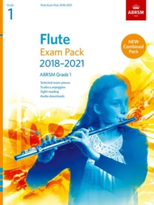 Flute Exam Pack 2018-2021, ABRSM Grade 1 : Selected from the 2018-2021 syllabus. Score & Part, Audio Downloads, Scales & Sight-Reading, Sheet music Book