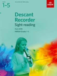 Descant Recorder Sight-Reading Tests, ABRSM Grades 1-5 : from 2018, Sheet music Book