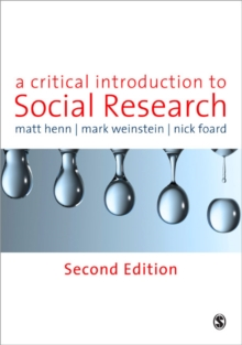 A Critical Introduction to Social Research, Paperback / softback Book
