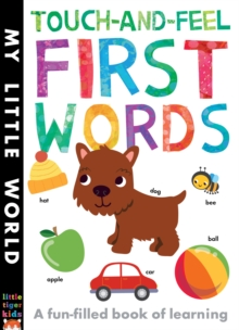 Touch-and-Feel First Words : A Fun-Filled Book of First Words, Novelty book Book
