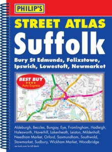 Philip's Street Atlas Suffolk, Spiral bound Book