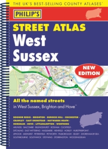 Philip's Street Atlas West Sussex, Spiral bound Book