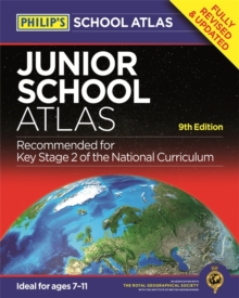 Philip's Junior School Atlas 9th Edition, Hardback Book