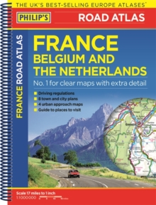 Philip's Road Atlas France, Belgium and The Netherlands : Spiral A5, Paperback / softback Book