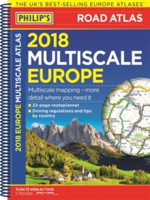 Philip's 2018 Multiscale Road Atlas Europe : (A4 Spiral binding), Spiral bound Book