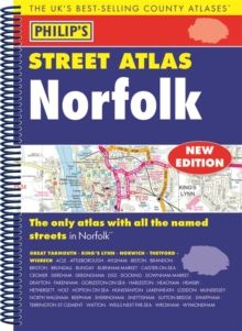 Philip's Street Atlas Norfolk, Spiral bound Book