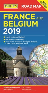 Philip's Road Map France and Belgium, Paperback Book
