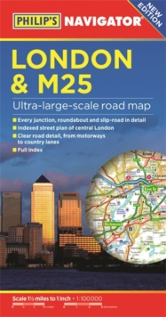 Philip's London and M25 Navigator Road Map, Paperback Book