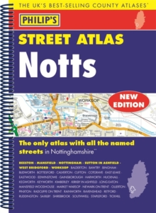 Philip's Street Atlas Nottinghamshire, Spiral bound Book