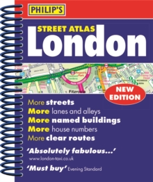 Philip's Street Atlas London : Mini Paperback Edition, Spiral bound Book