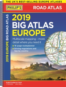 Philip's 2019 Big Road Atlas Europe : (A3 Spiral binding), Spiral bound Book