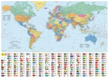 Philip's RGS World Wall Map (with Flags) : Laminated, Sheet map Book