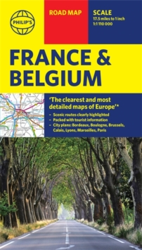 Philip's Road Map France and Belgium, Sheet map Book