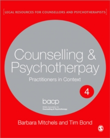 Legal Issues Across Counselling & Psychotherapy Settings : A Guide for Practice, Paperback Book
