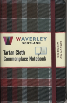Gordon Red Weathered: Waverley Genuine Tartan Cloth Commonplace Notebook (9cm x 14cm, Hardback Book