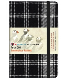Black and White Tartan: Pocket: 14 x 9cm: Scottish Traditions: Waverley Genuine Tartan Cloth Commonplace Notebook, Hardback Book