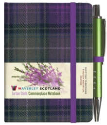 Heather Tartan: Mini Notebook with Pen: 10.5 x 7cm: Scottish Traditions: Waverley Genuine Tartan Cloth Commonplace Notebook, Hardback Book