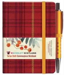 Rowanberry Tartan: Mini Notebook with Pen: 10.5 x 7.5cm: Waverley Genuine Tartan Cloth Commonplace Notebook, Hardback Book
