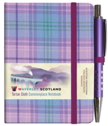 Romance Tartan: Mini Notebook with Pen: Scottish Traditions: Waverley Genuine Tartan Cloth Commonplace Notebook, Hardback Book