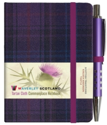 Thistle Tartan: Mini with Pen: Scottish Traditions: Waverley Genuine Tartan Cloth Commonplace Notebook, Hardback Book