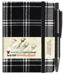 Waverley S.T. (S): Black & White Mini with Pen Pocket Genuine Tartan Cloth Commonplace Notebook, Hardback Book