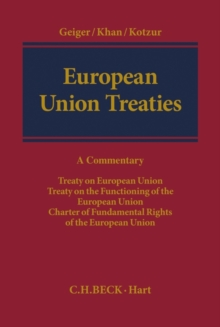 European Union Treaties, Hardback Book