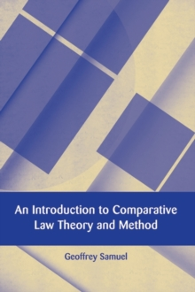 An Introduction to Comparative Law Theory and Method, Paperback Book