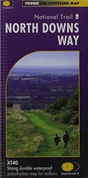 North Downs Way XT40 : Route Map, Sheet map, folded Book