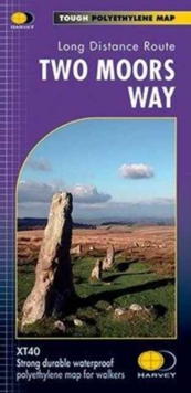 Two Moors Way XT40 : Route Map, Paperback Book
