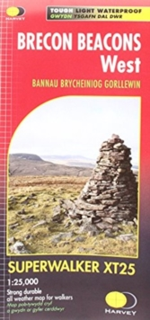 Brecon Beacons West XT25, Sheet map, folded Book