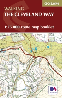 The Cleveland Way Map Booklet : 1:25,000 OS Route Mapping, Paperback Book