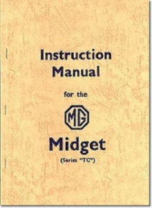 MG Midget TC Official Instruction Manual, Paperback / softback Book