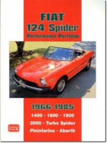 Fiat 124 Spider Performance Portfolio 1966-1985, Paperback Book