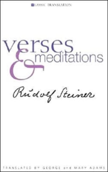 Verses and Meditations, Paperback / softback Book