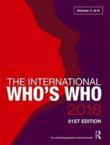 The International Who's Who 2018, Hardback Book