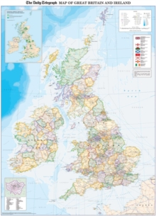Daily Telegraph Map of Great Britain & Ireland Inlcuding 2012 Olympic Locations 85cm x 120cm, Encapsulated wall map  Book