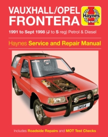 Vauxhall Frontera Service and Repair Manual, Hardback Book