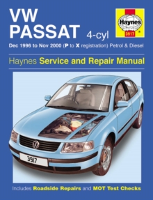 VW Passat 4-Cyl Petrol & Diesel (Dec 96 - Nov 00) P To X, Hardback Book