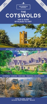 The Cotswolds Map & Guide : Of Places to Visit, Hardback Book