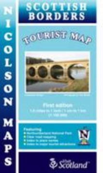 Borders Tourist Map, Sheet map, folded Book